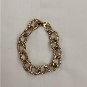 Jcrew Factory gold/crystal bracelet